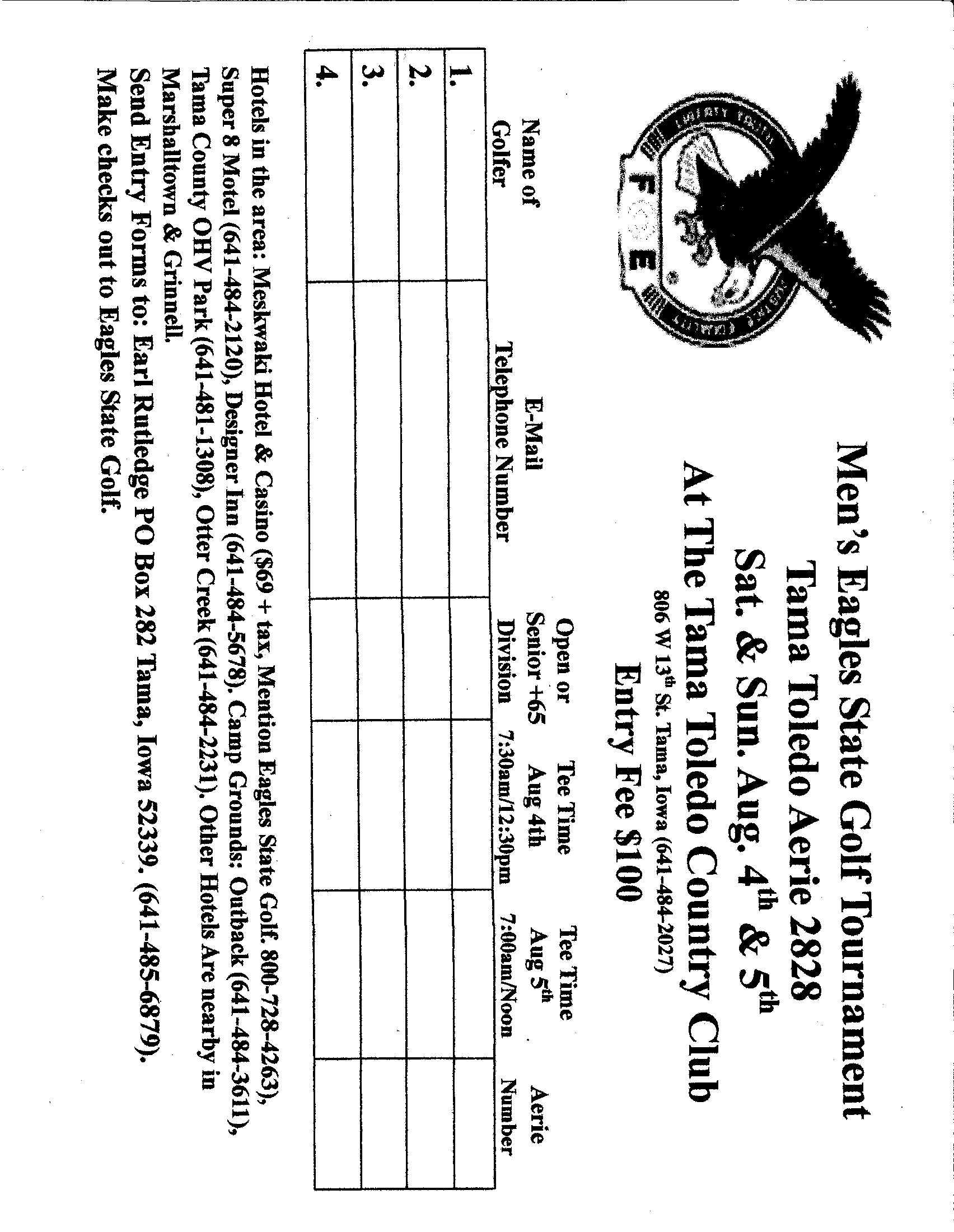 Forms | Iowa State Fraternal Order of Eagles